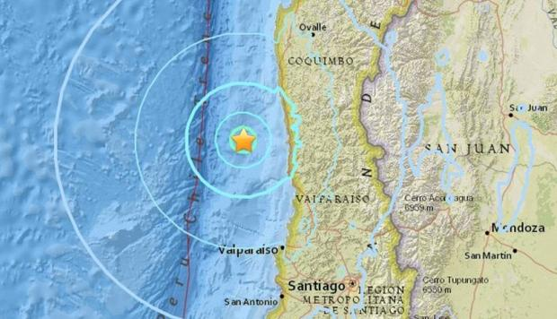 Sismo de mediana intensidad se registró en la zona central de Chile