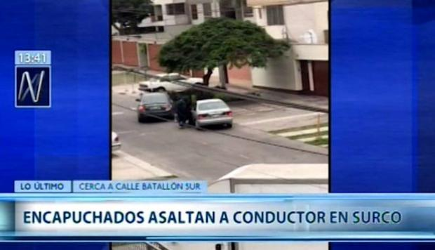 Surco: video registra asalto a hombre que fue interceptado en su auto | VIDEO