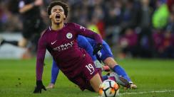 ¡Criminal! Leroy Sané recibió una patada de karate en duelo del City [VIDEO]