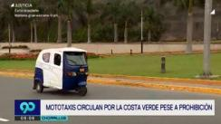 Mototaxis continúan invadiendo vías de la Costa Verde en Chorrillos [VIDEO]