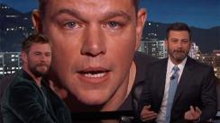 Matt Damon 'interrumpió' la entrevista de Chris Hemsworth y no dejarás de reír al verlo [VIDEO]