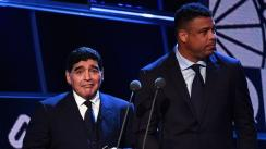 Maradona y Ronaldo Nazario hacen papelón en la gala The Best [VIDEO]