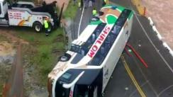 Un muerto y 20 heridos tras accidente de un bus en la Carretera Central [VIDEO]