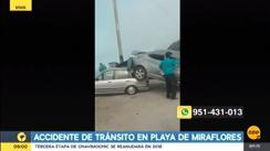 Accidente de tránsito dejó dos heridos en una playa de Miraflores [VIDEO]