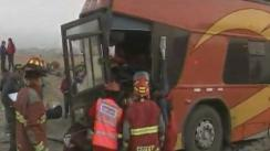 Accidente de bus en Pasamayo deja cuatro heridos graves [VIDEO]