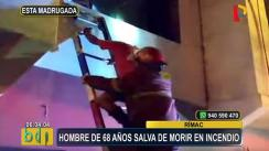 Anciano se salva de morir tras incendio en su vivienda [VIDEO]