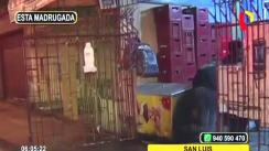 Desconocidos incendiaron una bodega en San Luis [VIDEO]