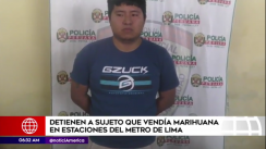 Capturan a joven que vendía marihuana en estaciones del Metro de Lima [VIDEO]
