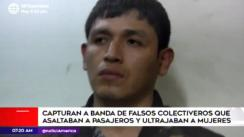 Capturan a cuatro presuntos falsos colectiveros en Comas [VIDEO]