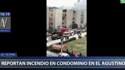 Reportan incendio en condominio en El Agustino | VIDEO