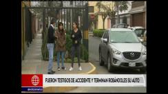Hermanas fueron testigos de accidente y 'marcas' terminan robándoles el auto [VIDEO]