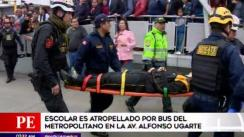 Escolar fue atropellado por bus de Metropolitano en Cercado de Lima [VIDEO]