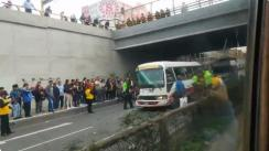 Aparatoso accidente en Vía Expresa Grau genera congestión [VIDEO]