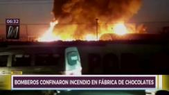 Incendio en fábrica de chocolates de Pisco ya fue confinado por los bomberos [VIDEO]