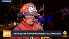 Incendio en sanguchería alarma a vecinos de Surco [VIDEO]