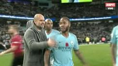 Manchester City vs. Manchester United: el reclamo de Pep Guardiola a Sterling por acción burlona [VIDEO]