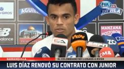 Colombiano Luis Díaz rechaza oferta de River Plate y renueva con Junior | VIDEO