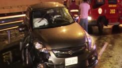 Llovizna provocó accidente en la Vía Expresa de Javier Prado [VIDEO]