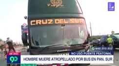 Hombre muere atropellado por bus interprovincial en la Panamericana Sur [VIDEO]