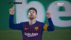 Barcelona vs. Betis: Messi marca golazo para su hat-trick en Sevilla [VIDEO]