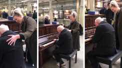 Una joven y un anciano pianista arrasan en Facebook con su versión de 'Somewhere Over the Rainbow'