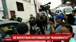 San Miguel: Registran disturbios en el frontis de 'Maranguita' [VIDEO]
