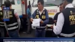 Capturan a dos personas que vendían combustible de manera ilegal en Santa Anita [VIDEO]