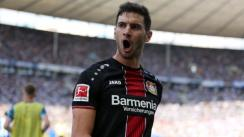 Bayer Leverkusen vs. Hertha: Lucas Alario brilló con 'hat-trick' en la Bundesliga [VIDEO]