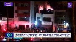 Incendio se registró en edificio en Chorrillos esta madrugada [VIDEO]