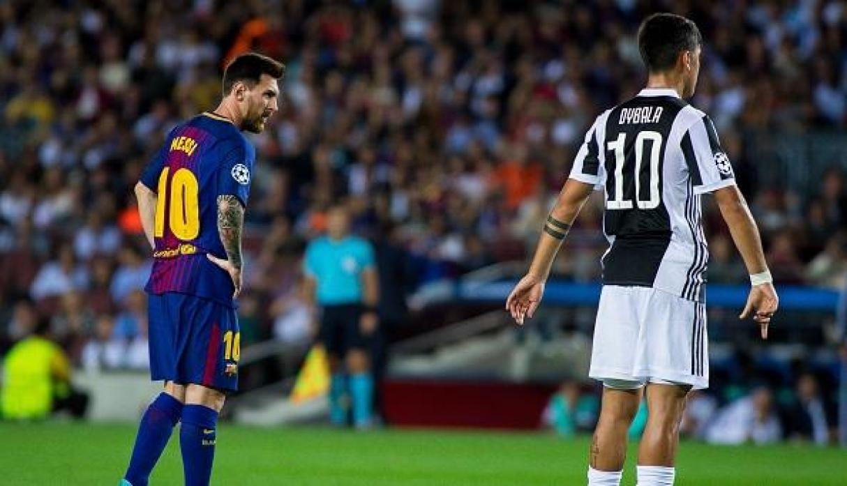 Lionel Messi y Paulo Dybala. (Getty Images)