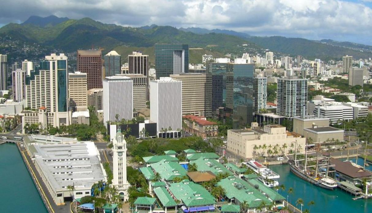 Honolulu, Hawái: 380 mil habitantes. (Wikipedia Creative Commons)
