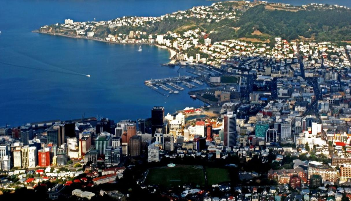 Wellington, Nueva Zelanda: 400 mil habitantes. (Wikipedia Creative Commons)