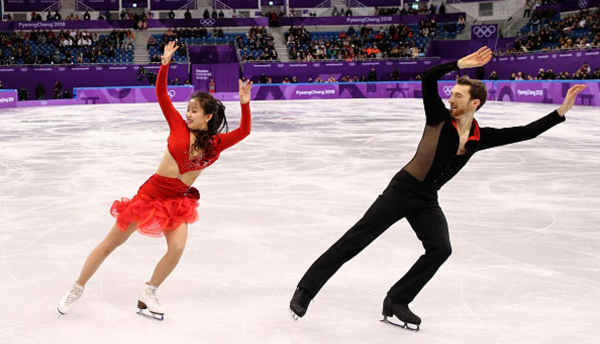 Yura Min y Alexander Gamelin compitieron con 'Despacito' de fondo. (Getty)