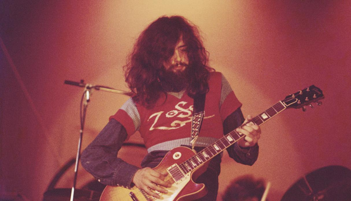 Jimmy Page con su Gibson (Getty)