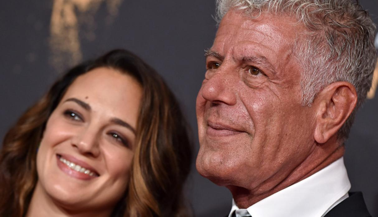 Asia Argento y Anthony Bourdain. (Getty)