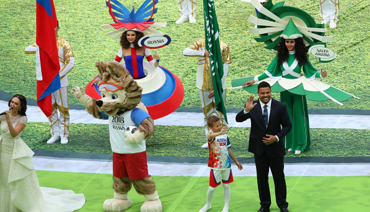 Ronaldo y Zabivaka. (Getty)