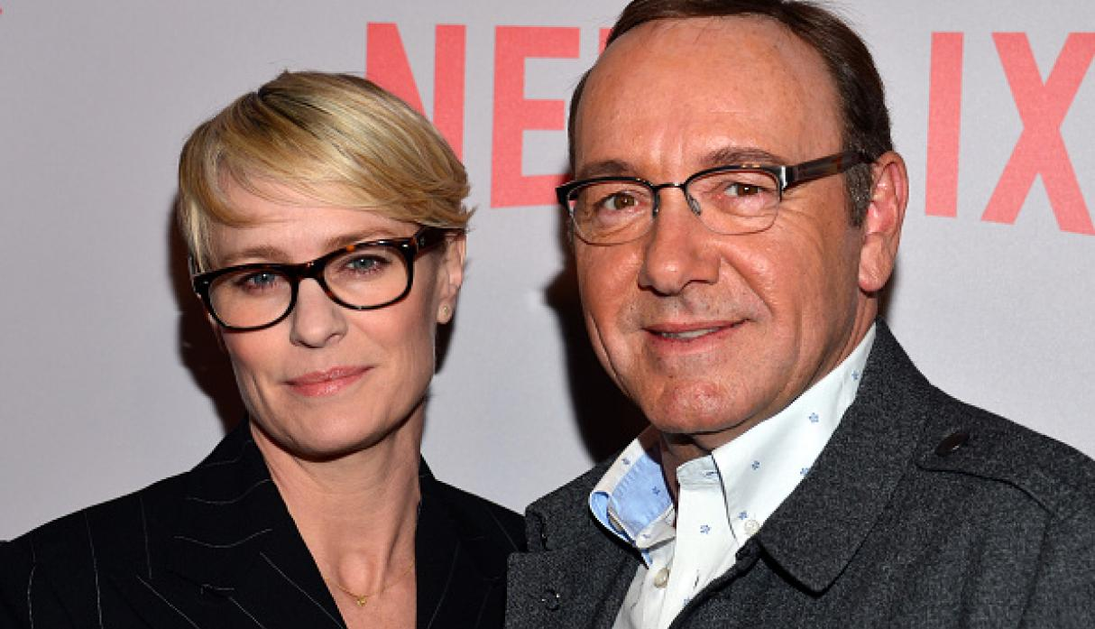 Robin Wright y Kevin Spacey eran los protagonistas de'House of Cards