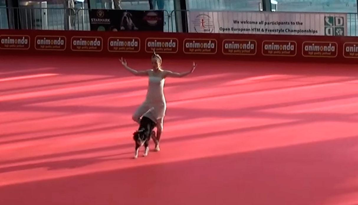 Una mujer y su perro sorprenden en un concurso de baile con impresionantes movimientos. (Foto: YouTube/captura)