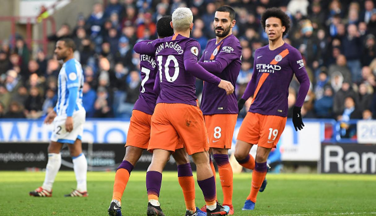 Manchester City goleó 3-0 al Huddersfield Town por la Premier League. (Getty)