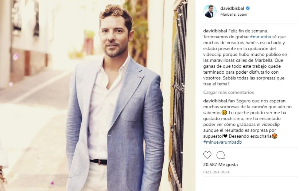 David Bisbal en Instagram.