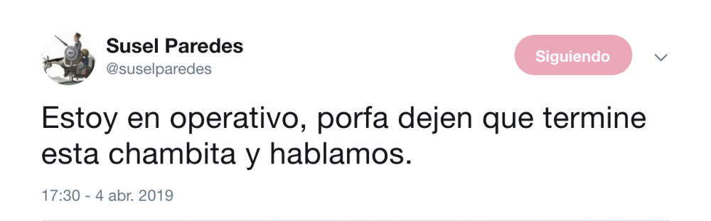 (Twitter Susel Paredes)